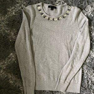 Ann Taylor sweater Embellished Crewneck Small
